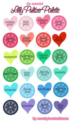 Lilly Pulitzer Colors Palette For Paint