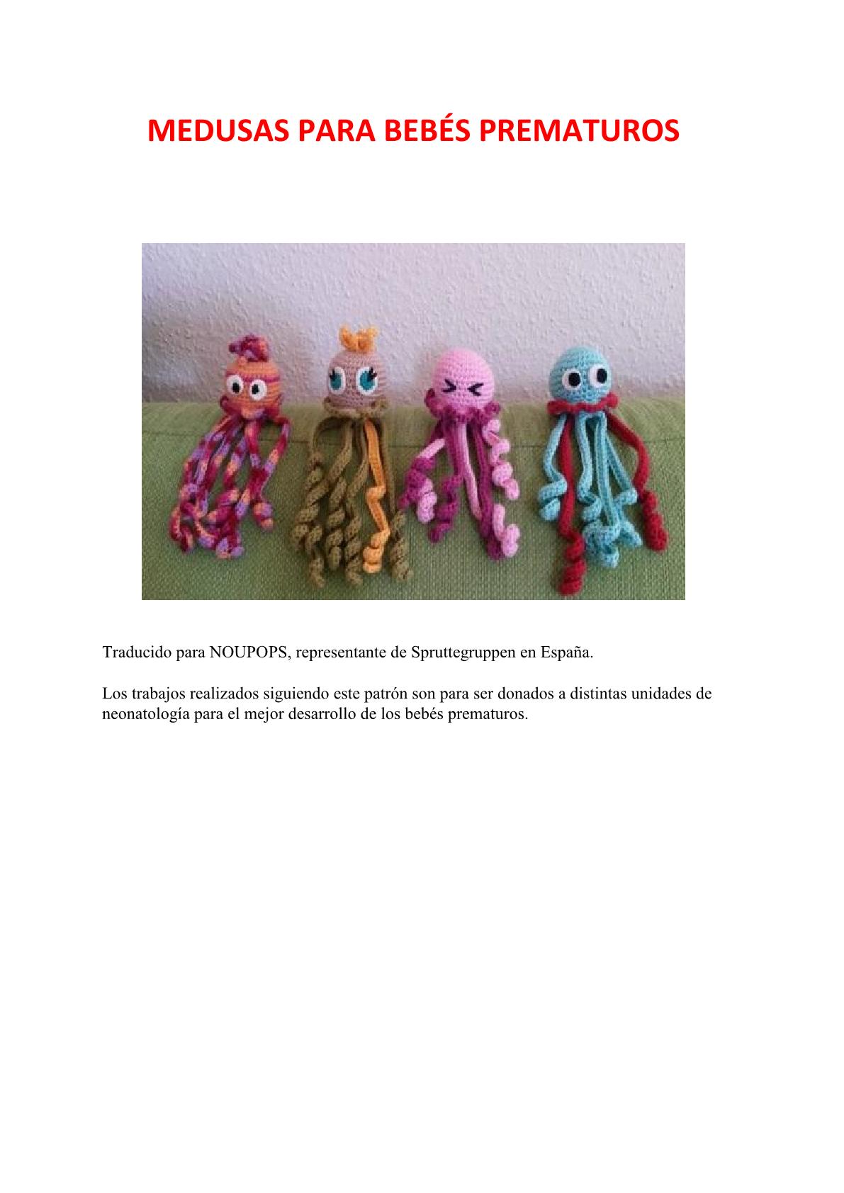 Pulpitos para bebés prematuros | Spruttegruppen | Ganchillo ...