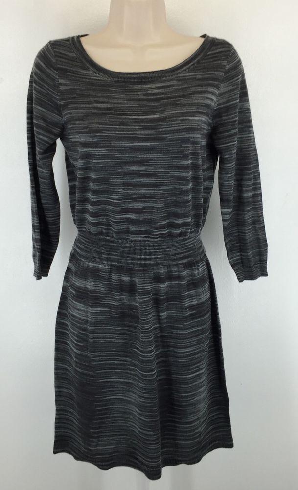8f6e7586ce5 ANN TAYLOR Loft Womens Size S Gray Striped Heather Sweater Dress Knee  Length  AnnTaylorLOFT  SweaterDress  WeartoWork