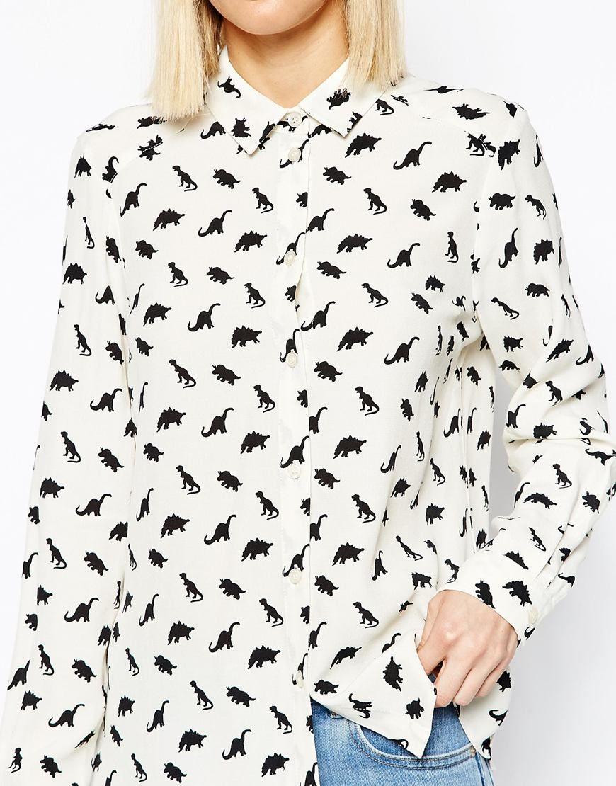 1544261808 ASOS Dinosaur Print Shirt $54.22 | Window Shopper | Printed shirts ...