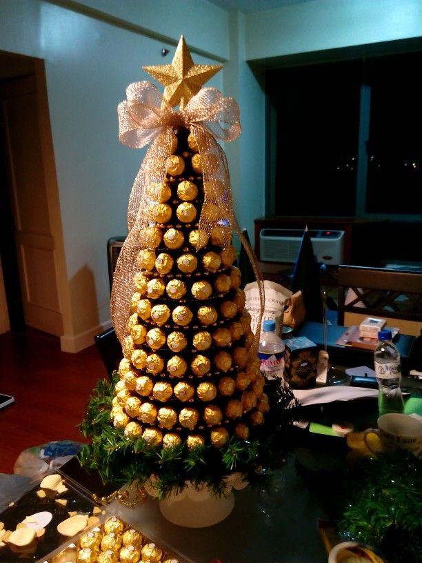 Ferrero rocher christmas tree masterpiece by Joy and Charms :-) - Ferrero Rocher Christmas Tree Masterpiece By Joy And Charms