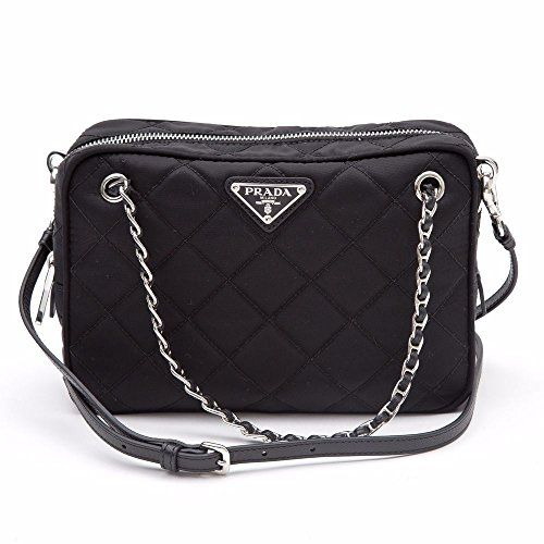 8a74b8b8267c Prada Tessuto Impuntu Quilted Nylon Shoulder Chain Handbag, Black / Nero