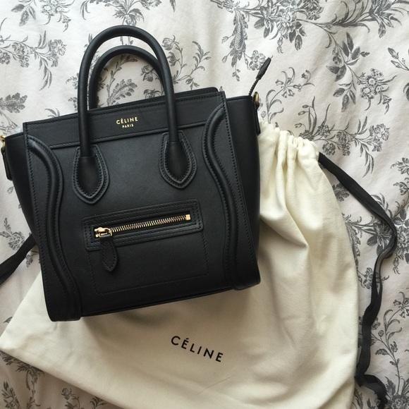Celine Handbags - Authentic brand new Cline nano luggage in black on  Poshmark ad43912e5db88