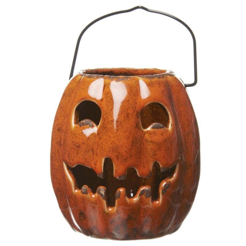 cheap halloween decorations uk ceramic pumpkin lantern beyond cute