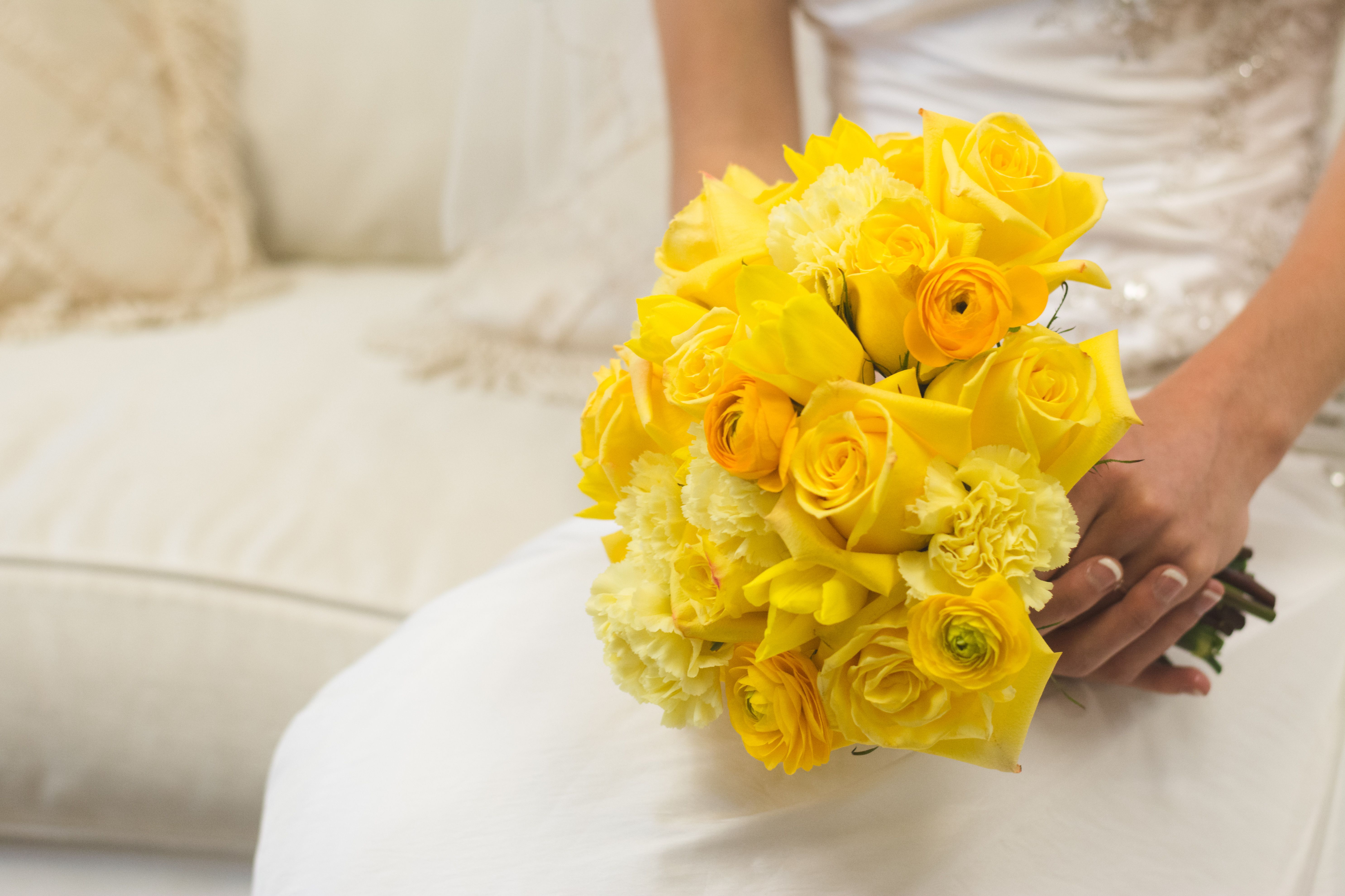 Canary Yellow Flower Bouquet Wedding Flowers Pinterest Flower