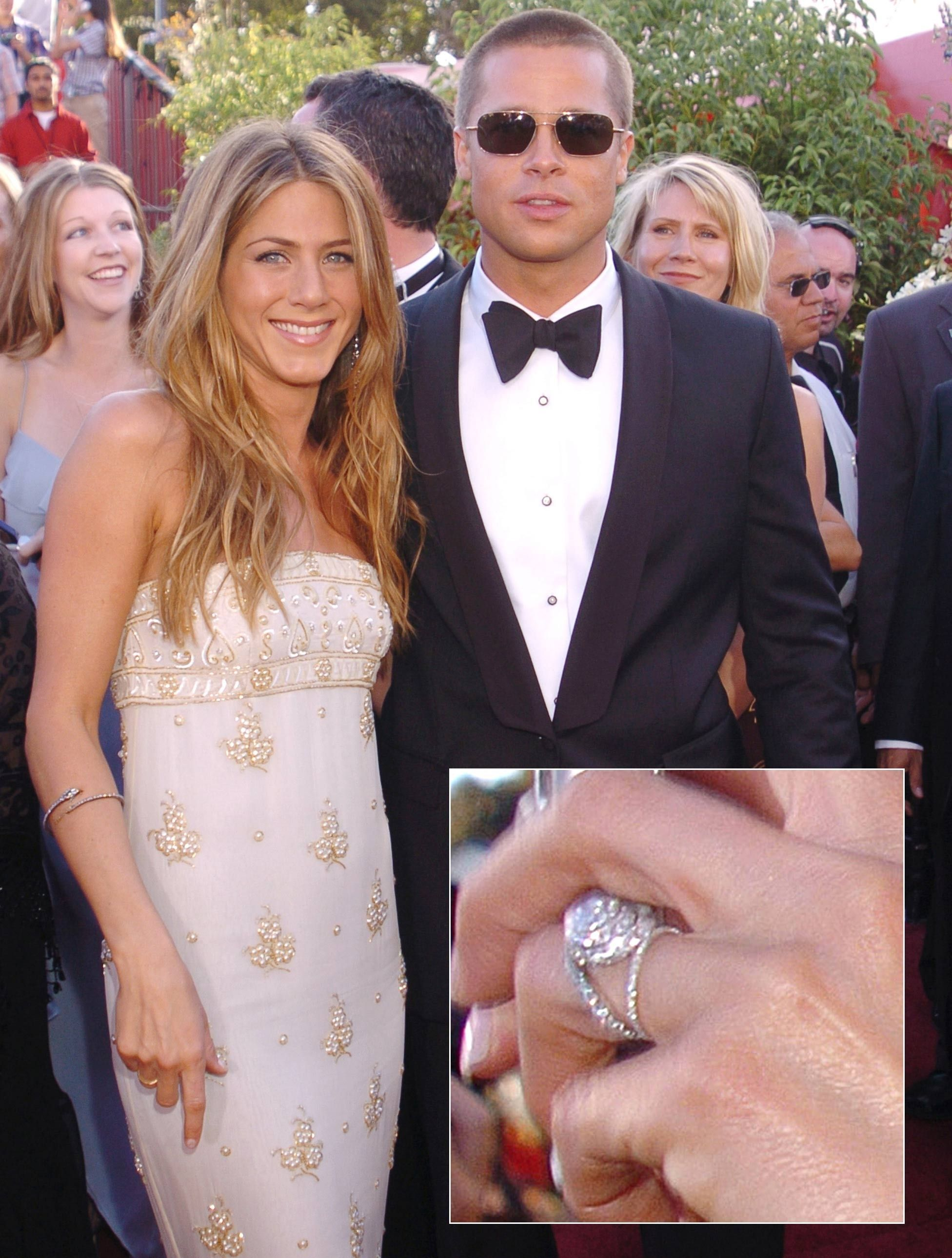 Jennifer Aniston Wedding Dress Brad Pitt