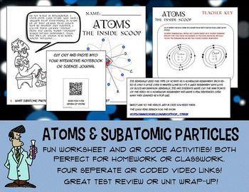 science atoms atomic structure parts of an atom worksheet qr codes jr high worksheets. Black Bedroom Furniture Sets. Home Design Ideas