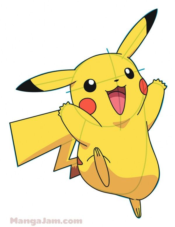 How To Draw Pikachu From Pokemon Pikachu Drawing Pokemon Drawings Pokemon Painting