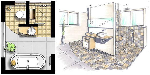 Badezimmer Beispiele 10qm Kleines Bad Gestalten Kleine Badezimmer Bad Grundriss