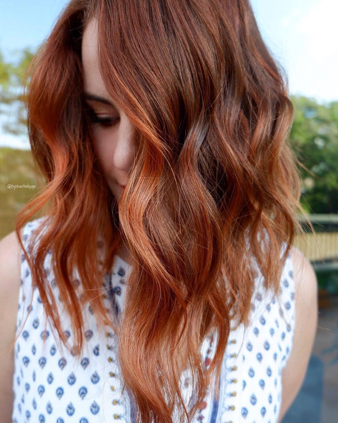 This Stunning Pumpkin Spice Hair Look By Amanda Leaman Is All