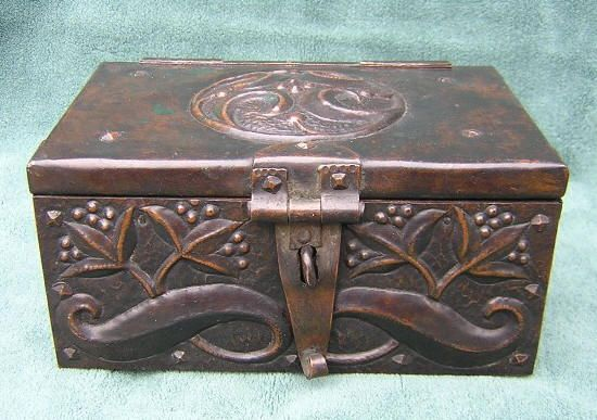 Arts and Crafts copper casket by John Pearson - http://www ...