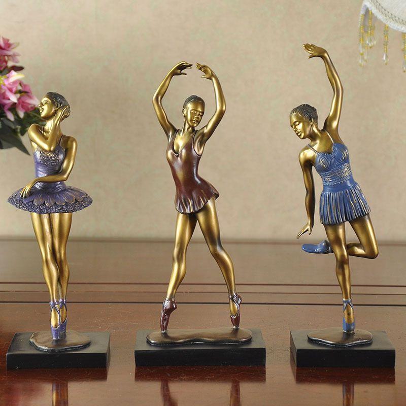 Find More Resin Crafts Information About 3pcs Dancer Model Creative Decoration Home Furnishing Three Dancers Sculpture Girl Figures Ballerina