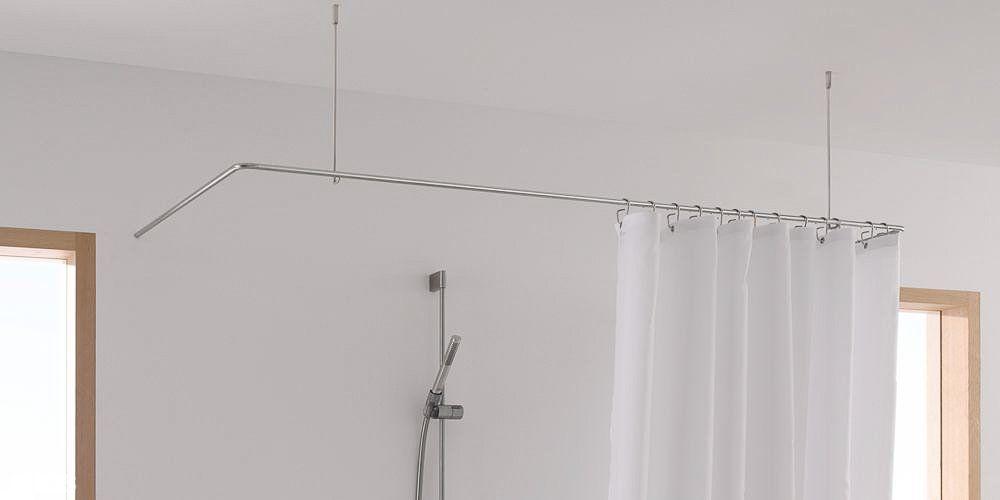 Duschvorhangstange In L Form U Form Als Winkel Duschvorhangstange Duschvorhang Halterung Vorhange