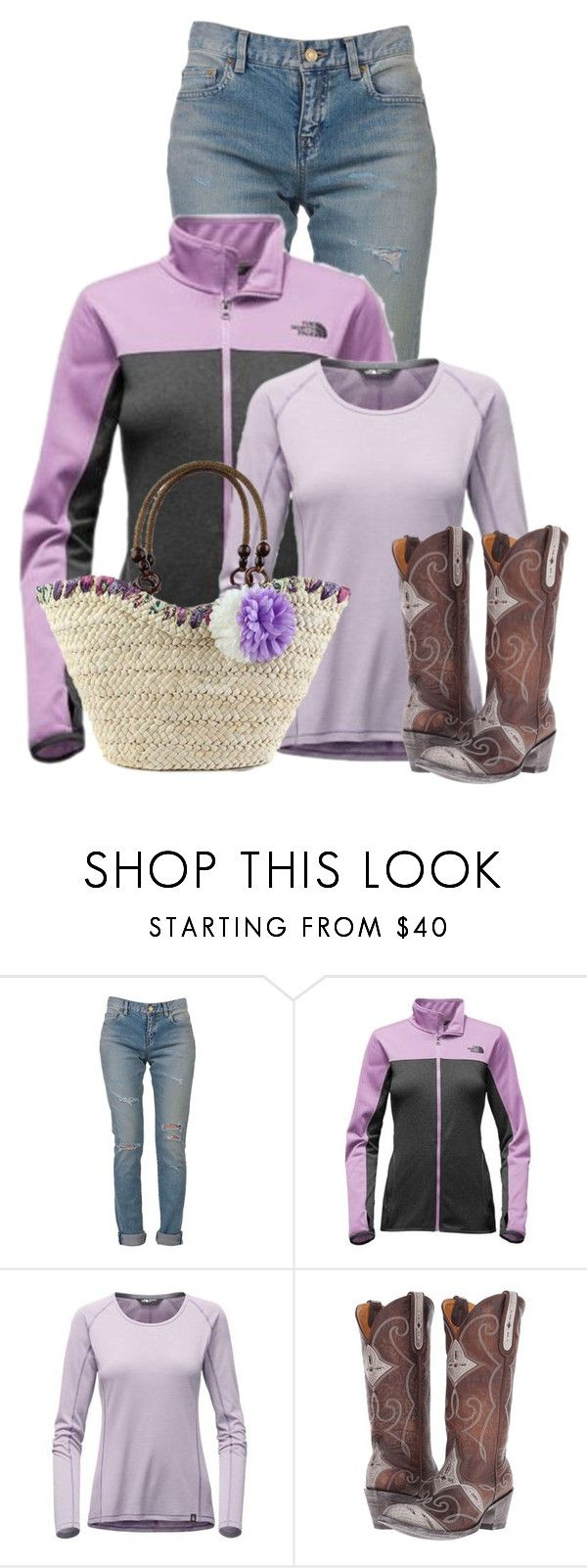 """Untitled #18025"" by nanette-253 ❤ liked on Polyvore featuring Yves Saint Laurent, The North Face and Old Gringo"