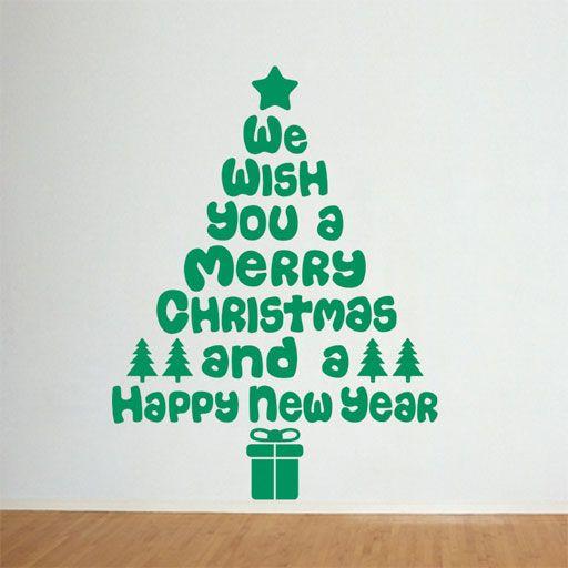 Vinilo decorativo original para decoraci n navide a - Decoracion de arboles de navidad ...