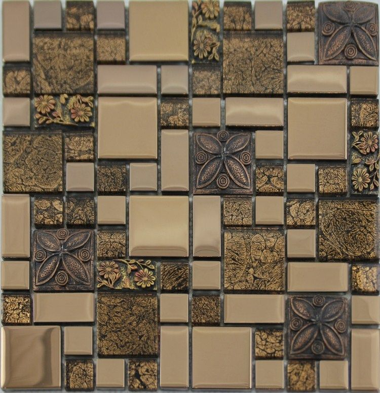 Porcelain Mosaic Tile Kitchen Backsplash Random Bricks Pinterest