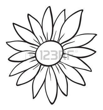 Simple Flower Outline Stock Photos Images Royalty Free Simple Flower Outline Images And Pictures Sunflower Drawing Sunflower Stencil Flower Outline
