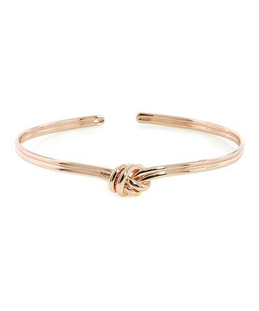 Look what I found on #zulily! Rose Gold Love Knot Cuff by BJG Services #zulilyfinds