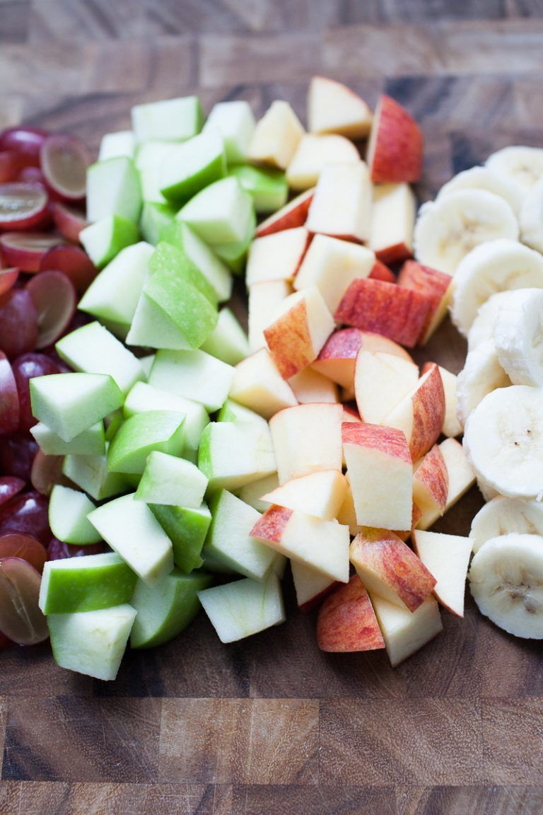 creamy christmas fruit salad is the perfect side dish for