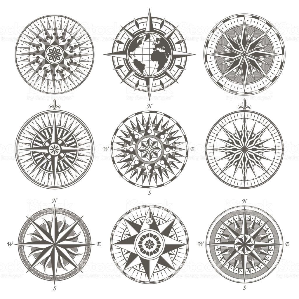 Conjunto de bússola náutica vintage rosa dos ventos antigos sinais elementos de emblemas de rótulos ilustração de conjunto de bússola náutica vintage rosa dos ventos antigos sinais elementos de emblemas de rótulos e mais banco de imagens de bússola royalty-free
