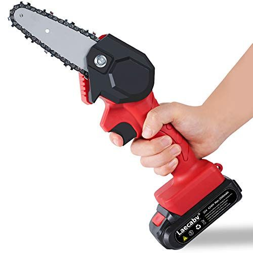 Laecabv 4-Inch Mini Chainsaw, NEW Generation One-H