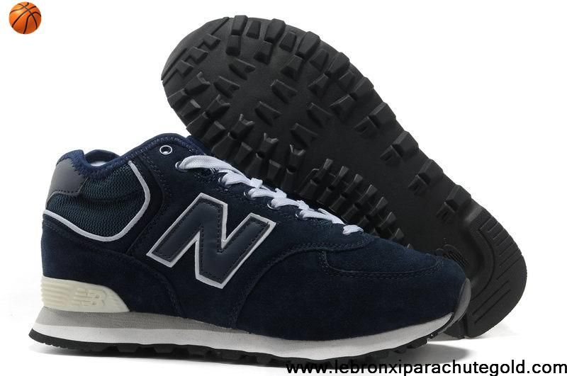 New Balance NB HM574VN middle-cut Suede retro For Men shoes dark Blue For  Sale