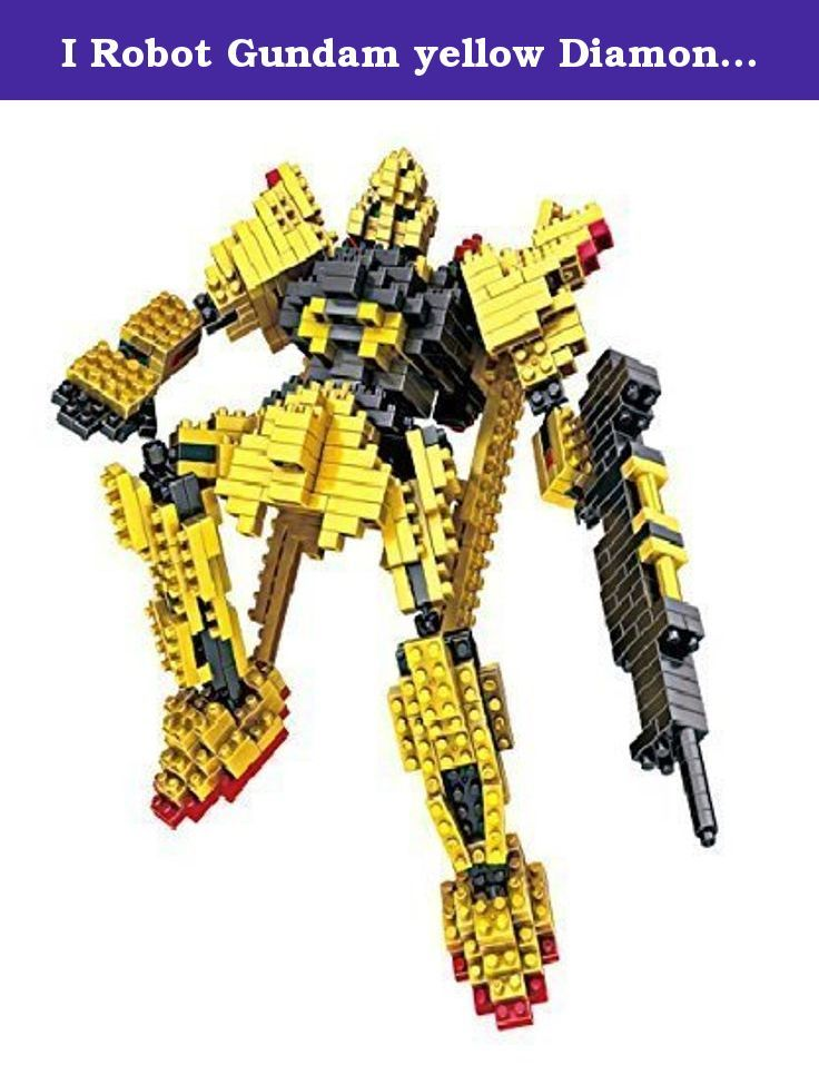 I Robot Gundam yellow Diamond Blocks 595pcs Toy Set, 3D