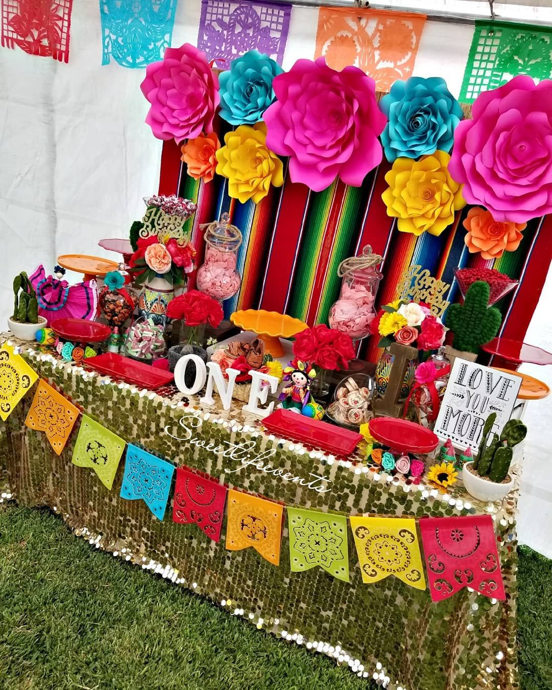 Happy 1st Birthday Illiana Thank You For Having Us Noemi Sweetlifeevents Dul Mexican Party Theme Mexican Birthday Party Kids Mexican Theme Party Decorations