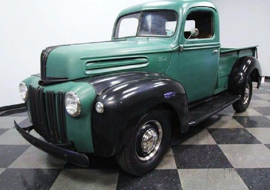 1945 Ford Pick Up Truck Green Black Coches Y Motocicletas Chicas En Autos Camionetas