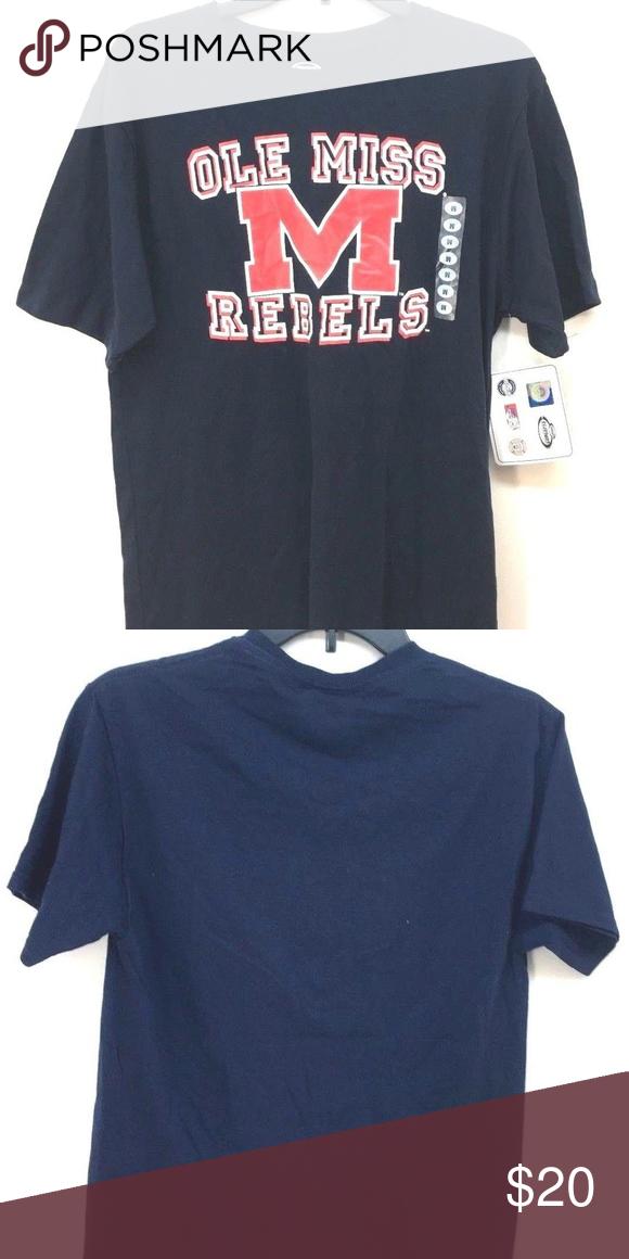 Concepts Men S Ole Miss Rebels Navy Blue T Shirt Navy Blue T Shirt Ole Miss Rebels Ole Miss