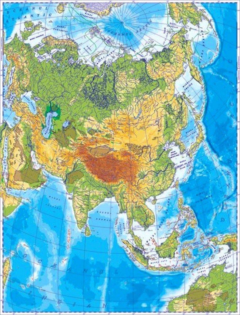 Asia Harta Fizica Fizică Asia și Geografie