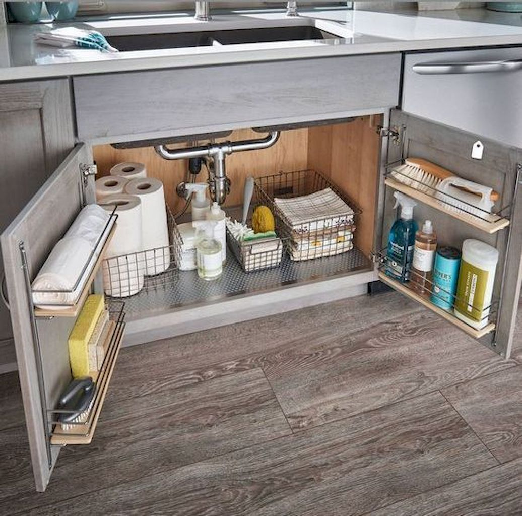 65 Brilliant Kitchen Cabinet Organization and Tips Ideas #cabinetorganization