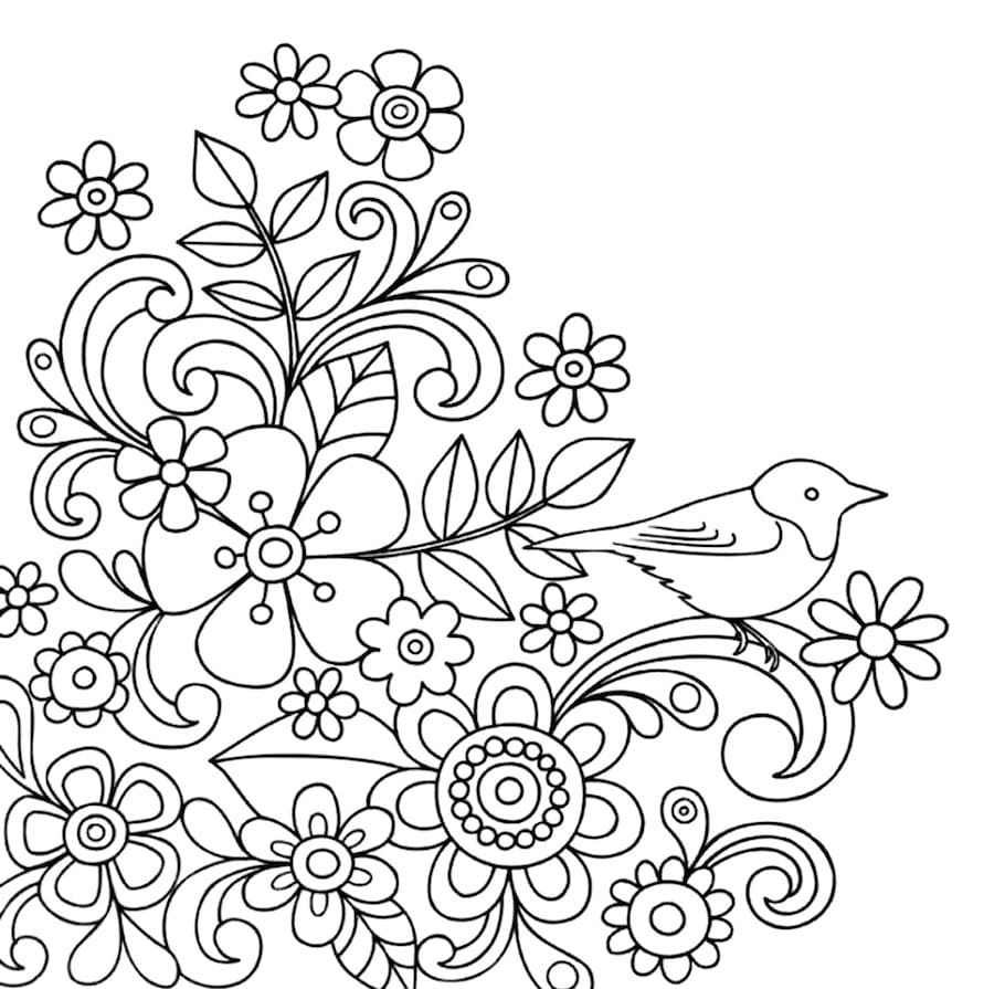 Spring Flowers Coloring Page For Kids Free Printable No You Need To Calm Down Flower Coloring Pages Spring Coloring Pages Free Coloring Pages