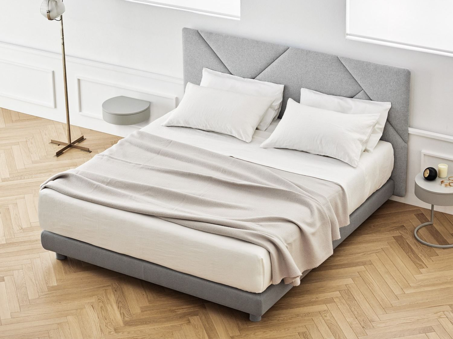 Buy online Opus By caccaro, fabric double bed with upholstered ...