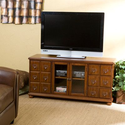 Hyde Park 48 Wide Tv Stand Mahogany Tv Entertainment Stand