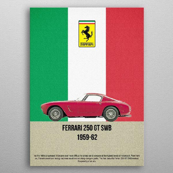 ferrari 250 gt swb 19596 by FARKI15 DESIGN | metal posters - Displate | Displate thumbnail