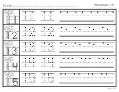 11 20 Number Trace Worksheet Printable Worksheets And   Tareas ...