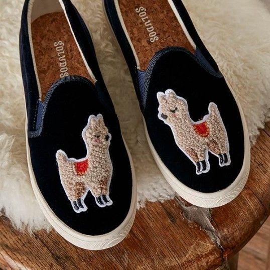 Velvet Llama Sneaker - Soludos   Velvet