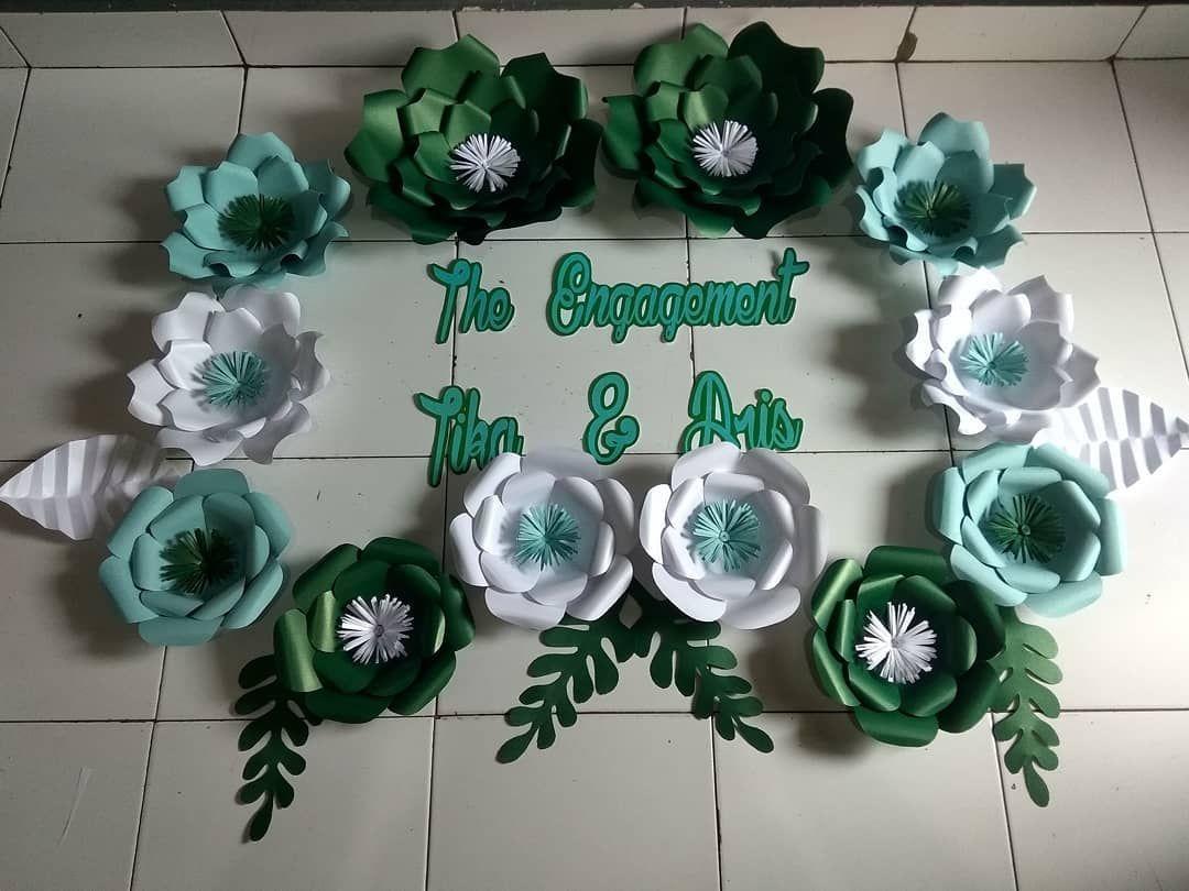 Bunga Kertas Dekorasi Lamaran