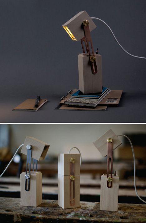 Pencil Box Light Little Desk Lamp Contains Creative Surprise Wooden Lamp Lamp Design