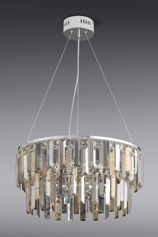 Buy Bellagio 5 Light Smoke And Mink Chandelier from the Next UK ...