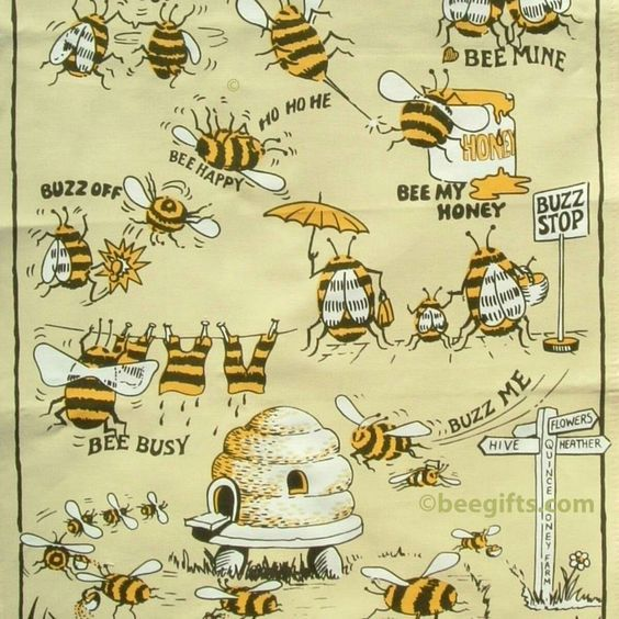 Tea Towels Myer: Bee's Knees Bee Buzzz