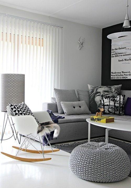 Fauteuil Bascule Rocking Chair Blanc Eames Plastic Armchair RAR