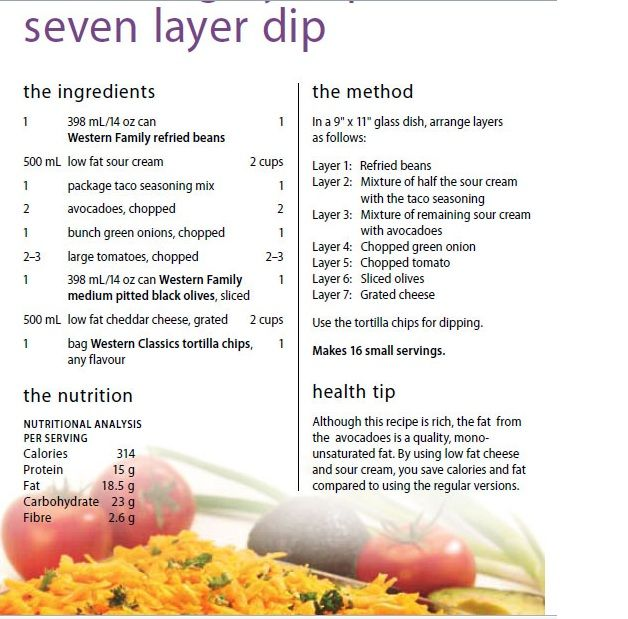 dip seven layer taco dip class i c from a can 7 layer dip seven layer ...