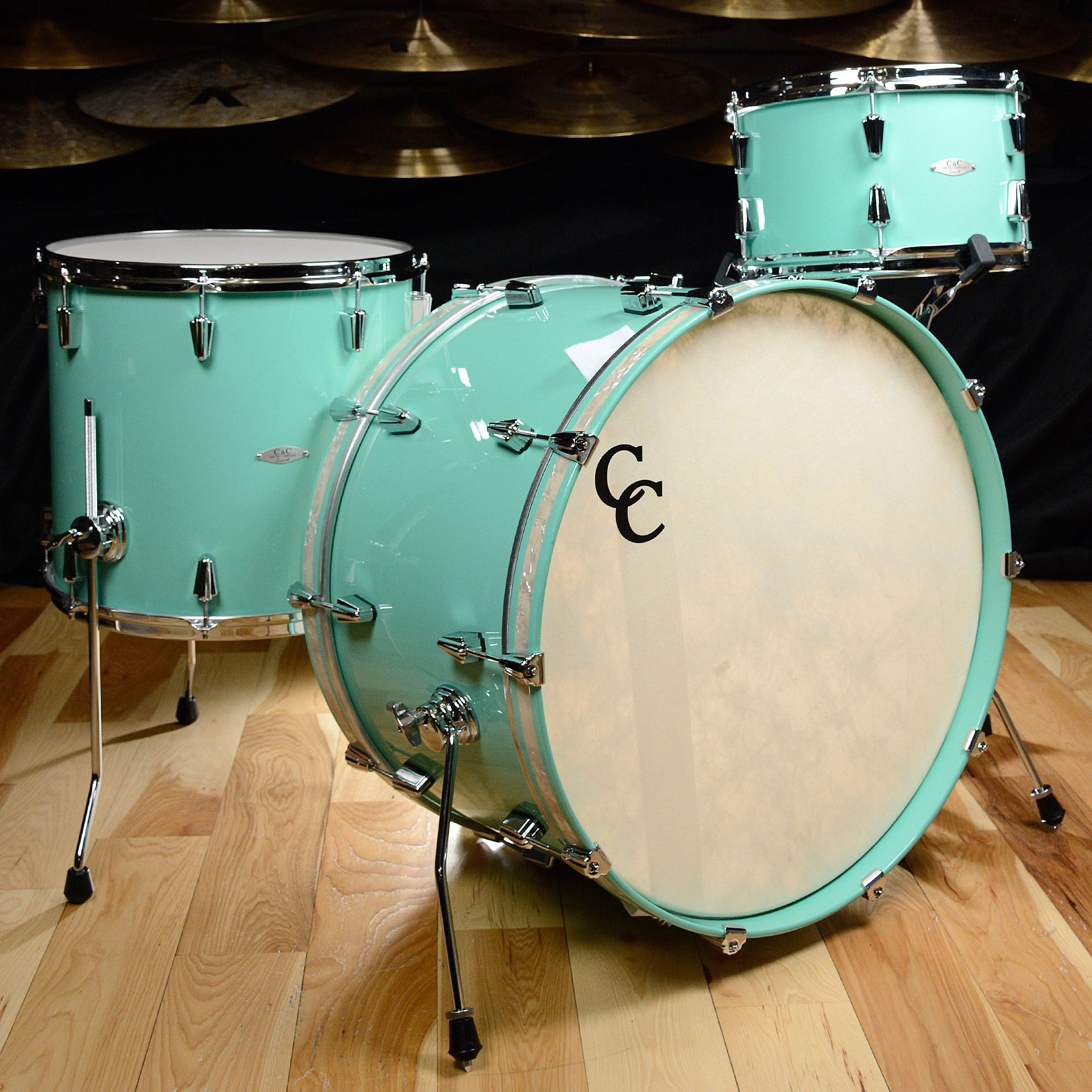 C&C Maple/Gum 13/16/24 3pc Kit High Gloss \'57 Mint Green | Products ...