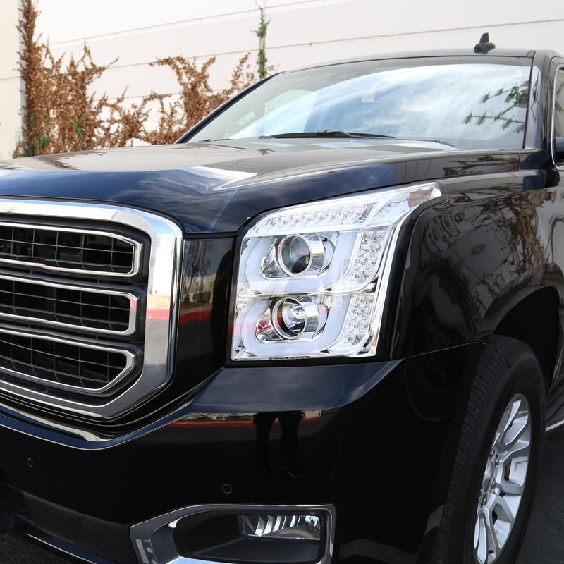 Spec D Projector Headlights Gmc Yukon Xl 2015 2019 Led Drl Black Or Chrome Chrome W Clear Lens In 2021 Gmc Trucks Gmc Yukon Xl Gmc Yukon