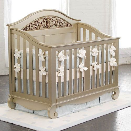 Chelsea Lifetime Crib In Antique Silver From Poshtots Lucy S