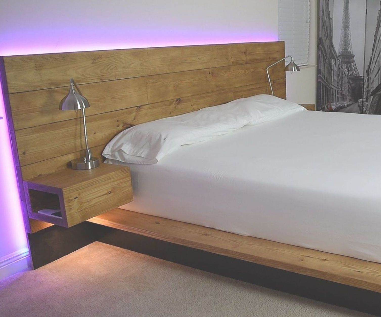 DIY Platform Bed With Floating Night Stands Bed design