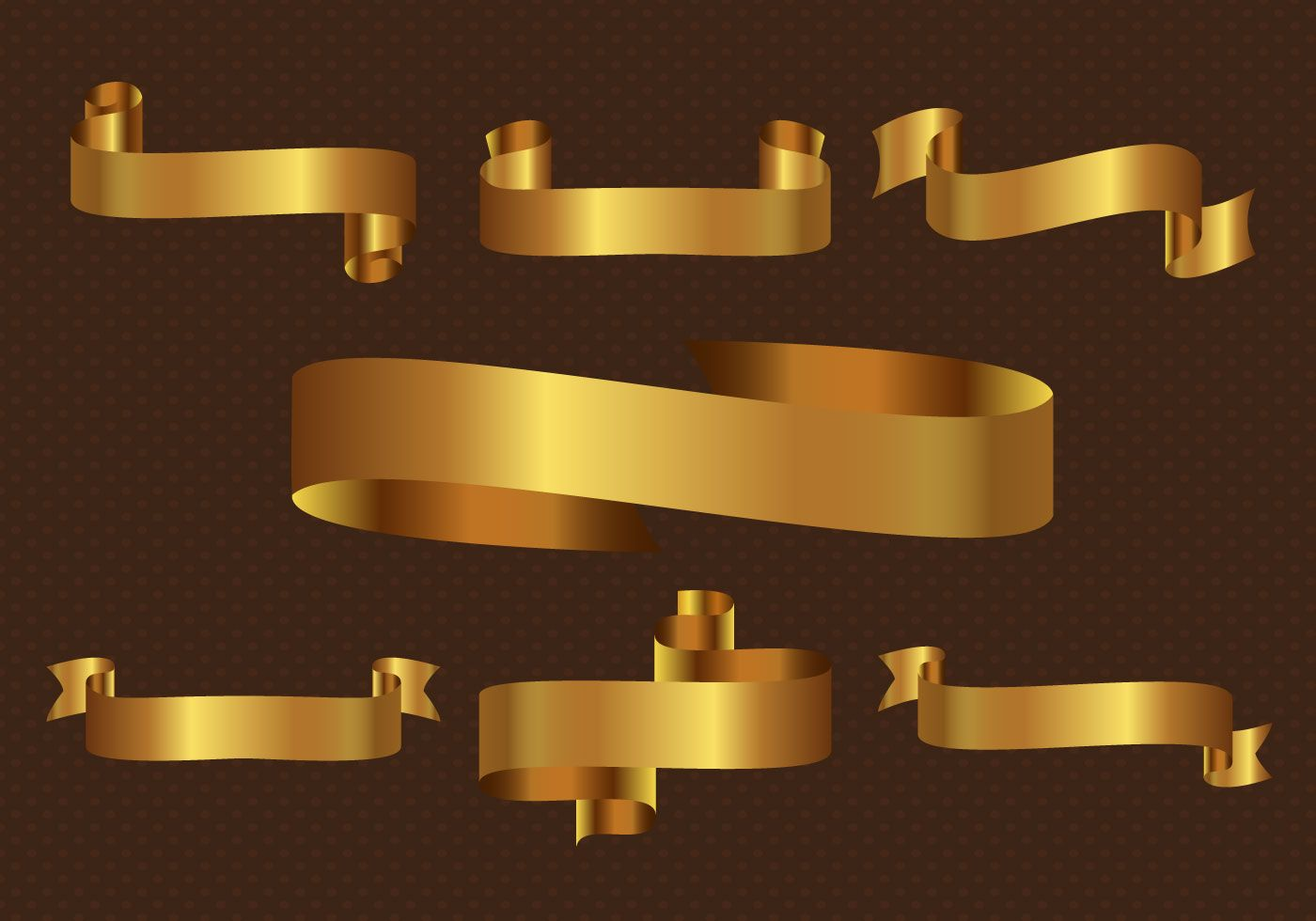 Gold Ribbon Collection Design For Your Use Gold Ribbons Gold Vector