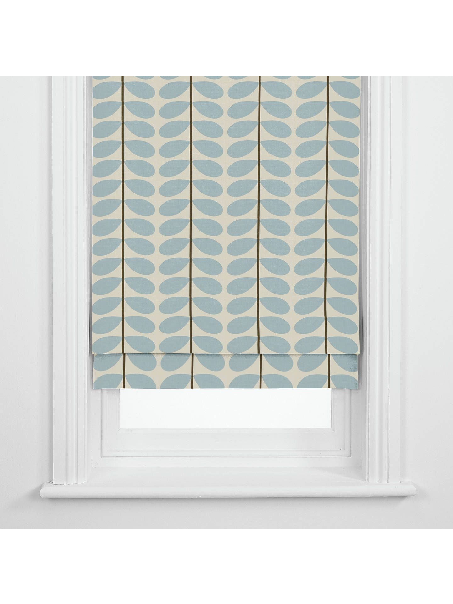 Orla Kiely Two Stem Made To Measure Roman Blind Blue At
